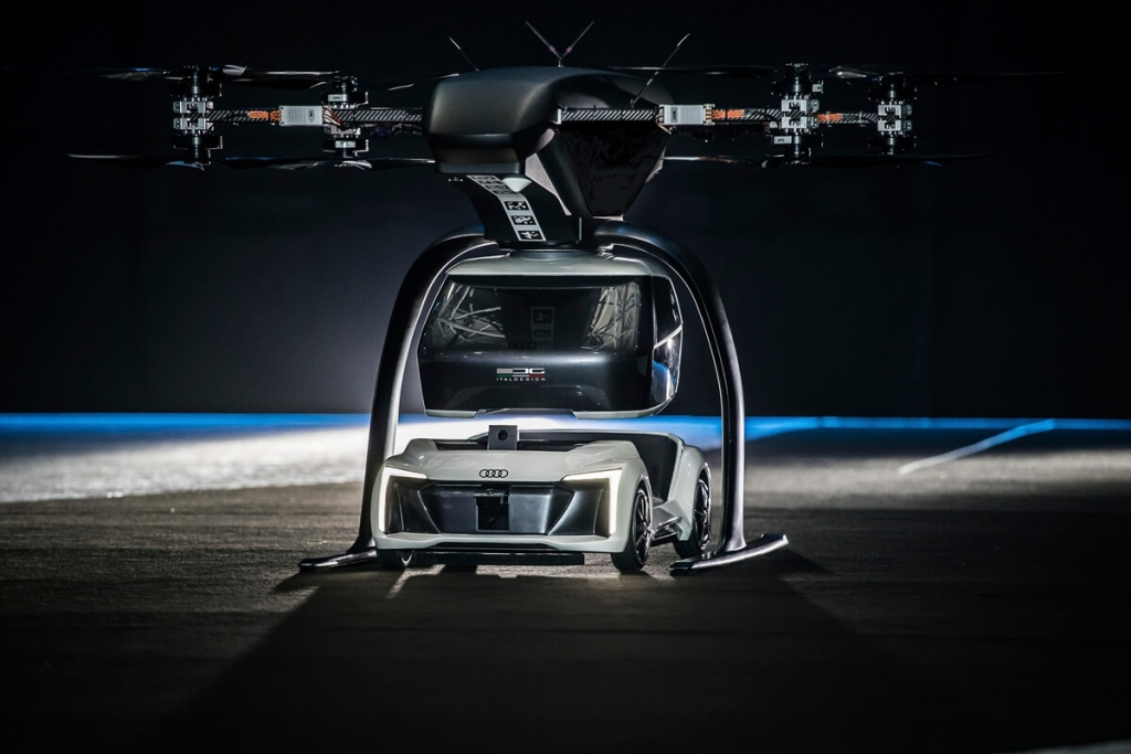 Audi、Airbus以及Italdesign開始共同測試Flying Taxi Concept飛行計程車