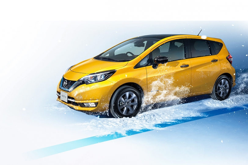 遇到雪地也不怕,Nissan Note e-POWER 4WD /Note AUTECH 車型追加!