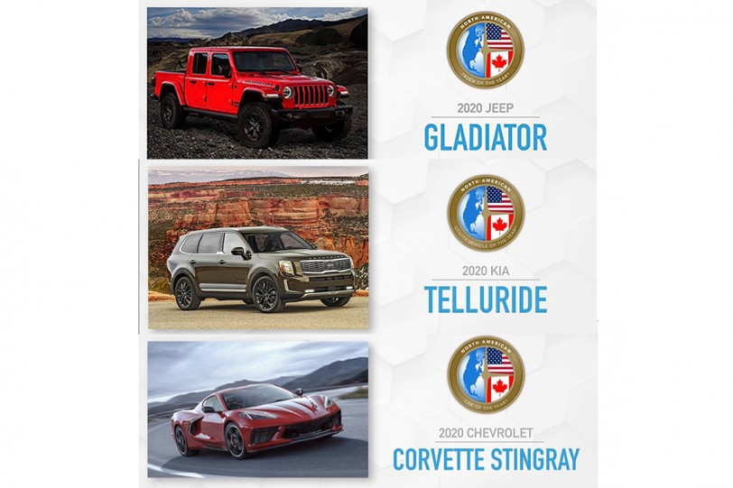 2020 北美年度風雲車出爐,Chevrolet Corvette Stingray、Kia Telluride 與 Jeep Gladiator 榮獲殊榮!